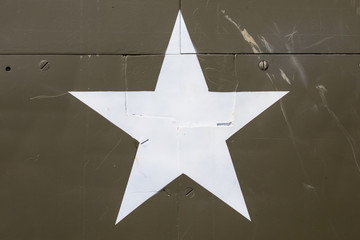 American Star on a Military Vehicle