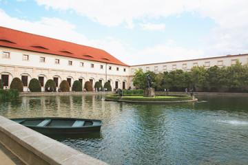 Chezh Republic, Prague. Wallenstein gardens, fountain with statues