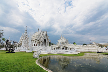 Wat Rong Khun (White Temple) - art exhibit in the style of a Buddhist temple in Chiang Rai Province, Thailand