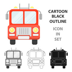 Fire truck icon cartoon. Single silhouette fire equipment icon from the big fire Department cartoon - stock vecto - stock vecto - stock vecto - stock vector