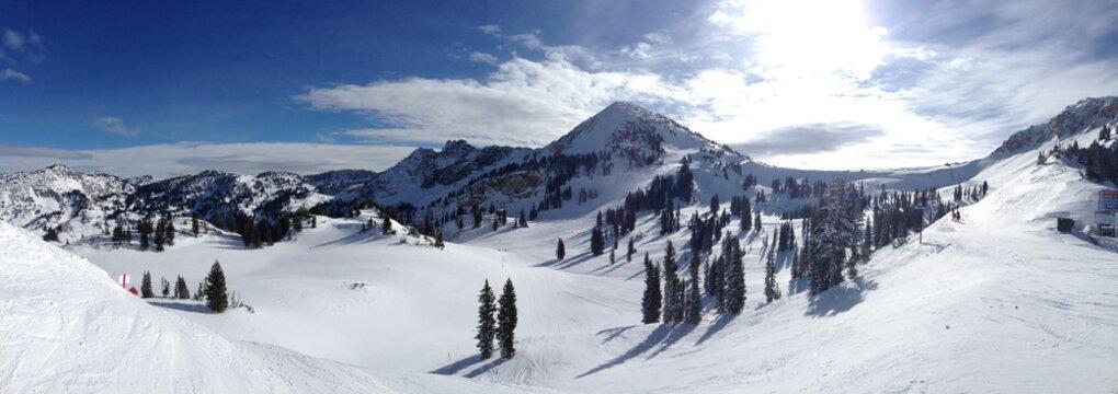 Ski Vail Winter Snow and Sun Colorado and Utah Bluebird Day USA US America United States
