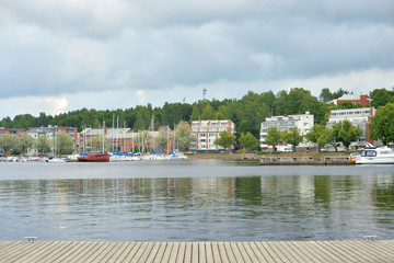 View of Lake Saimaa and the city of Lappeenranta.