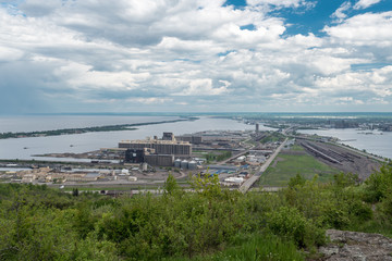 View of Duluth, Minnesota and Superior Wisconsin
