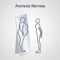 Anorexia Nervosa vector icon illustration