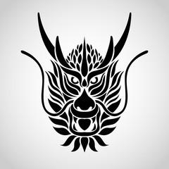 Dragon logo vector icon illustration