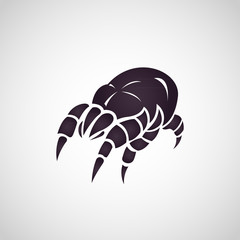 Dust mites logo vector illustration