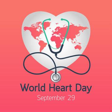 World Heart Day vector icon illustration