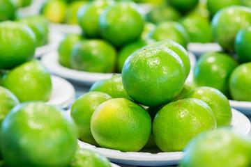 Lime Citrus Fruits In  Market