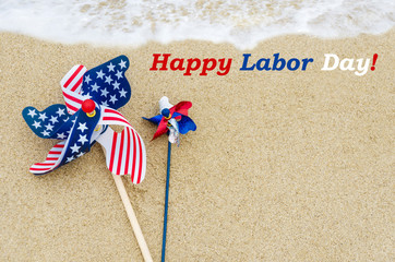 Labor day background on the beach
