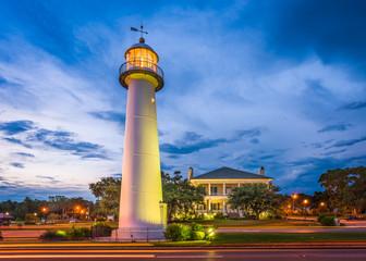 Biloxi Lighthouse in Biloxi, Mississippi, USA