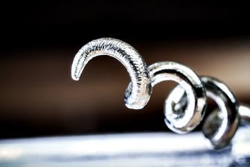 corkscrew close-up shot
