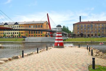 Jelgava, Latvia - July 12, 2014: The quiet boulevard regained its splendour in 2012.