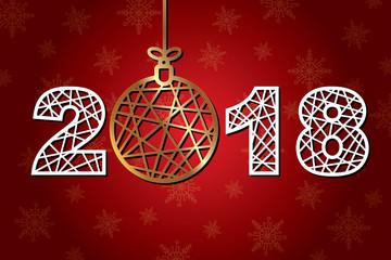 2018 new year against a dark background