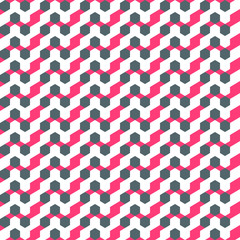 small colored polygons on a beautiful background seamless pattern