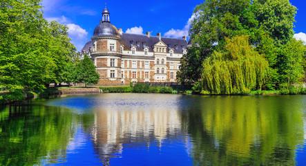 Great castles of Loire Valle - beautiful elegant Chateau de Serrant. France