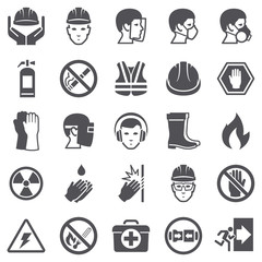 Occupational Safety Health Icons