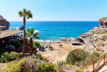 Cala del Barco beach. Cartagena, Costa Blanca. Spain