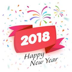 2018 Celebration Greeting illustration graphic design