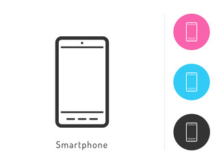 Smartphoneicon vector. Smartphone symbol for your web site design, logo, app. One of a set of linear electronics icons.
