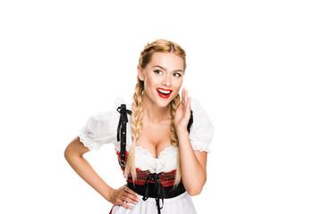 Whispering german girl