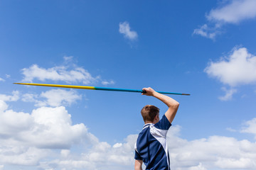 Athlete Javelin Blue Sky
