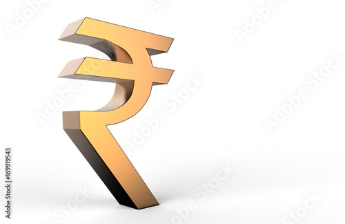 3d Indian Rupee Currency Sign Symbol 3d Illustration Stock Photo