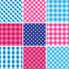 Set of nine seamless traditional octoberfest pattern.