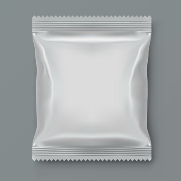 Fat White Blank Foil Food Packing
