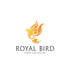 Royal Dove Logo.  Easy to change color, size and text.