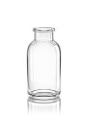Empty glass bottle, glass jar