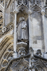 Elements of architecture are the church of St. Stephen in Vienna in Austria.