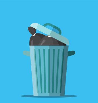 Huge waste trash can