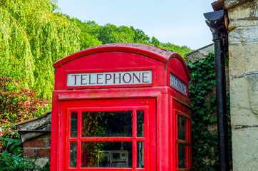 Red telephone booth, symbolic english red booth, england icon, communication