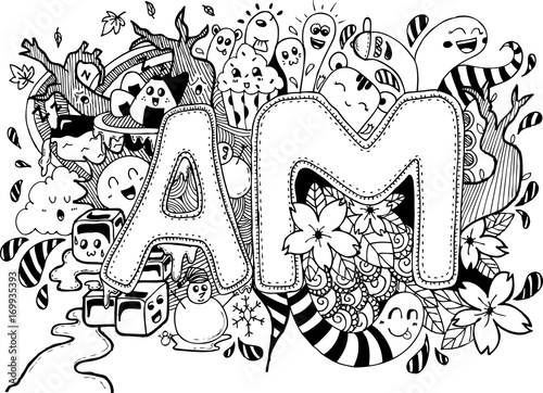 Cute Abstract Doodle Art Design