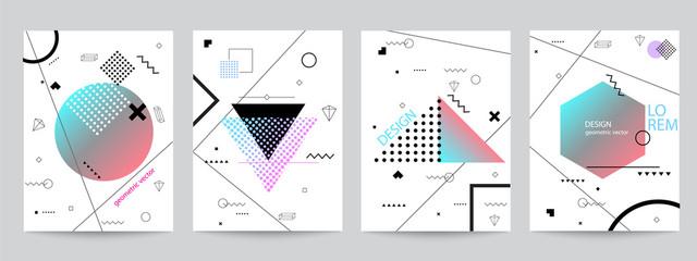 Set of minimalist covers design with geometric forms Fotoväggar