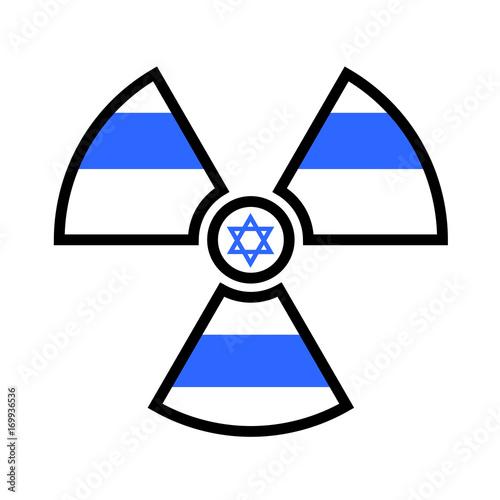 Flag Of Israel As Symbol Of Radiation Metaphor Of Israeli Atomic