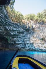 Melissani cave - deep blue, colors, rock, water, nature