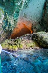 Melissani cave rocks, island, greek, colors, blue, day, sun, summer