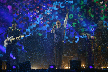 British rock band Coldplay perform at the BRIT Awards at the O2 arena in London, Britain