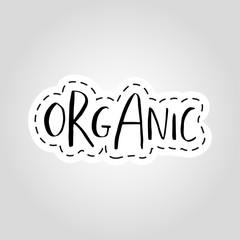 Vector eco, bio logo or sign. Vegan, healthy food badge