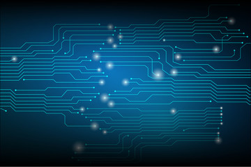 Blue Abstract Hi Tech Circuit Board Modern Concept Pattern Vector Background