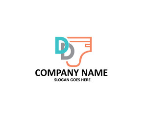 d letter double diaper logo