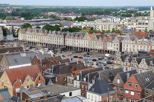 Cityscape of Lille in France