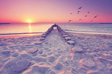 romantischer Blick übers Meer