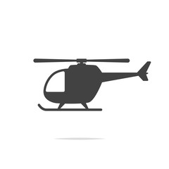Helicopter icon vector transparent