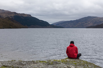 Stopping to take in the view over Loch Lomond