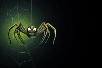 Spider Halloween Background