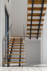 Modern interior with staircase