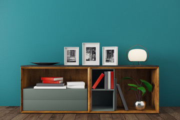 New interior with decor items