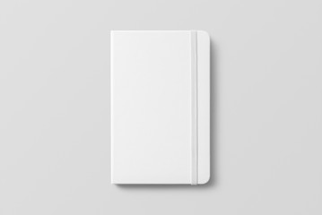 Blank photorealistic notebook mockup on light grey background.  Wall mural